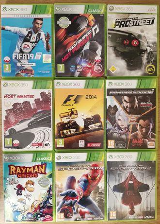 Gry Xbox 360 Spiderman Rayman Tekken FIFA NFS F1 2014