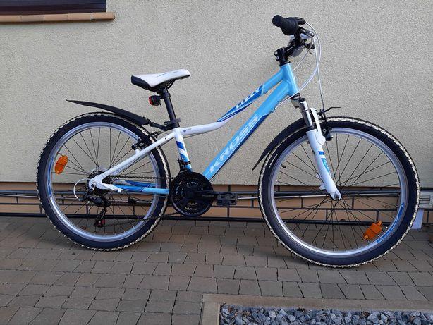 Niebieski rower Kross Lizzy dla dziewczynek