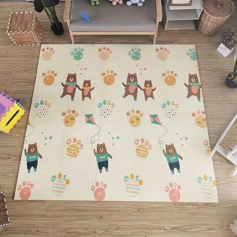 Детский складной коврик для игр и ползанья (термоковрик) 150x180x1