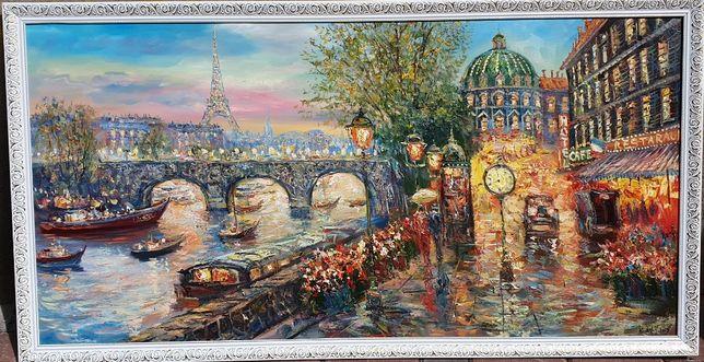 """Картина маслом """"Париж"""" возможен торг!"""