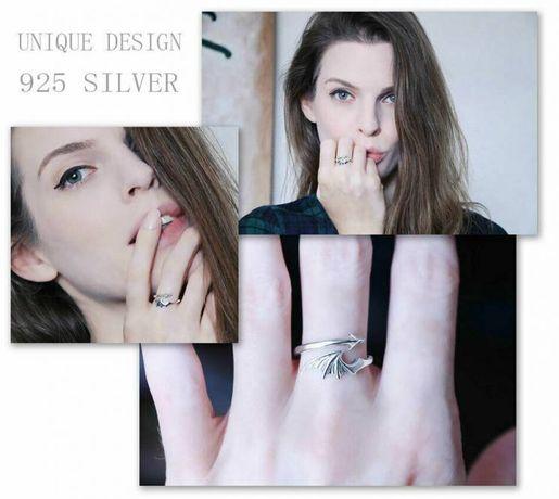 Серебряное кольцо Angel & Demon на подарок 925 проба Exlusive