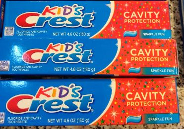 Детская Зубная паста, crest, Америка