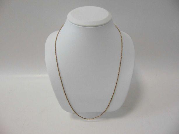 Śliczny złoty łańcuszek -750- DŁ:60CM