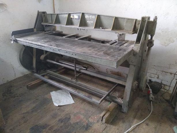 Maszyna szczelinówka wykrawarka szczelin tektura 1,7m kartony