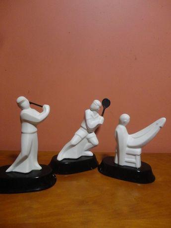 3 Estatuetas desportivas em faiança