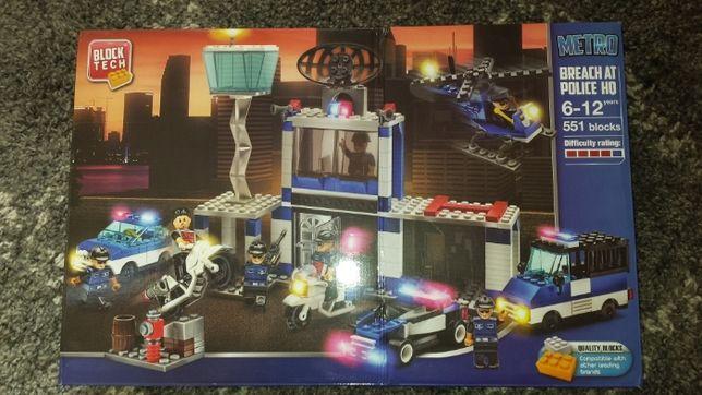 Klocki Block Tech 551szt, Policja, kompatybilne z LEGO (nowe).
