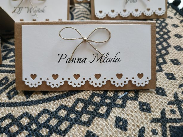 Winietki rustykalne na wesele