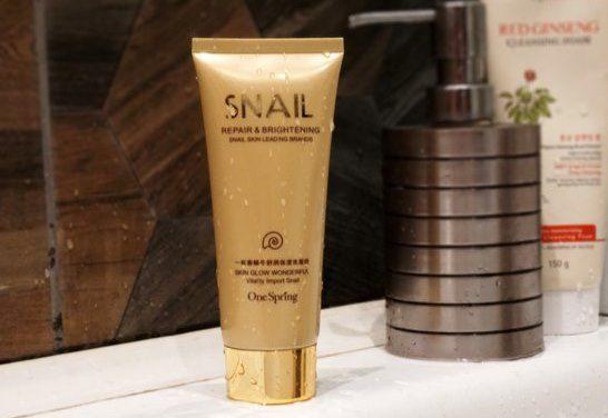 Пенка для умывания улиточная one spring snail repair