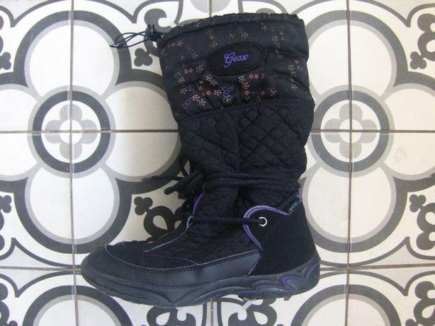 Зимние сапоги Geox сапожки (термо) черные на девочку