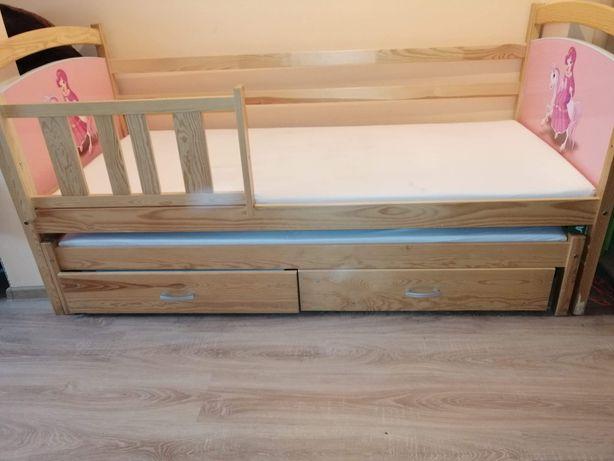 Łóżko dziecięce - podwójne z szufladami