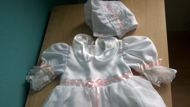 Sukienka do chrztu ubranko na chrzest urocza 62
