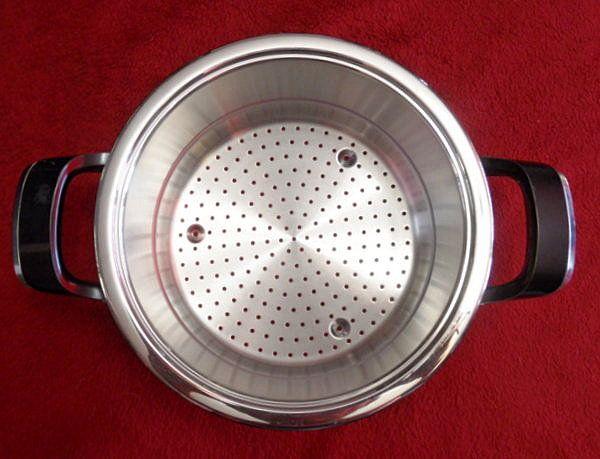 AMC Garnek, durszlak, cedzak, sitko do gotowania na parze - 20cm