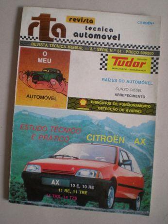 Livro RTA manual Citroen AX automóvel estudo