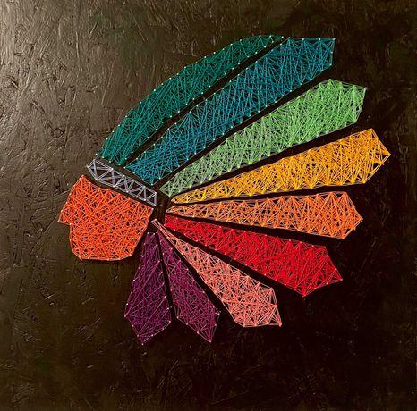 картина з цвяхів та ниток string-art
