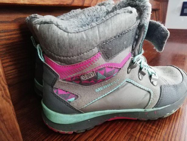 Buty na jesień, zimę Merrell rozmiar 35 nieprzemakalne.