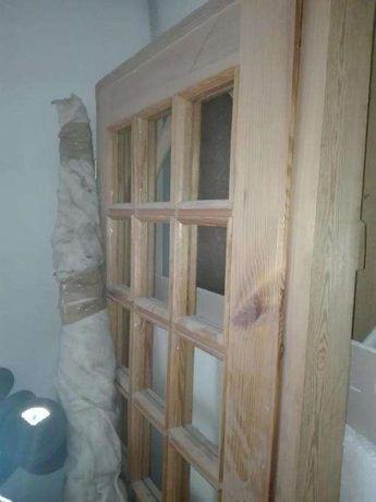 Drzwi wewnętrzne lewe drewniane NOWE 80 -tki