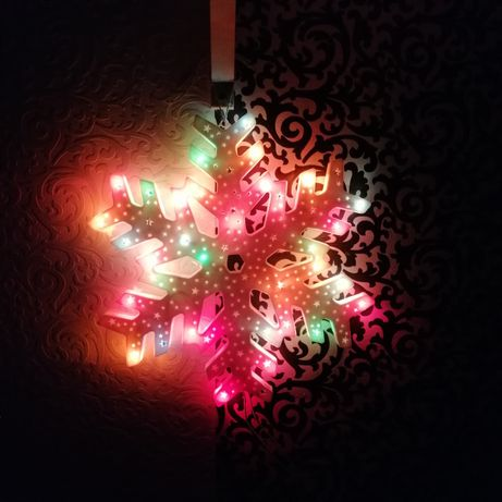 Светящаяся Снежинка гирлянда Новогодний декор
