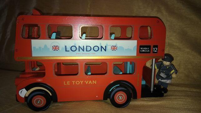 Трактор с прицепом, Лондонский автобус Le Toy Van дерево