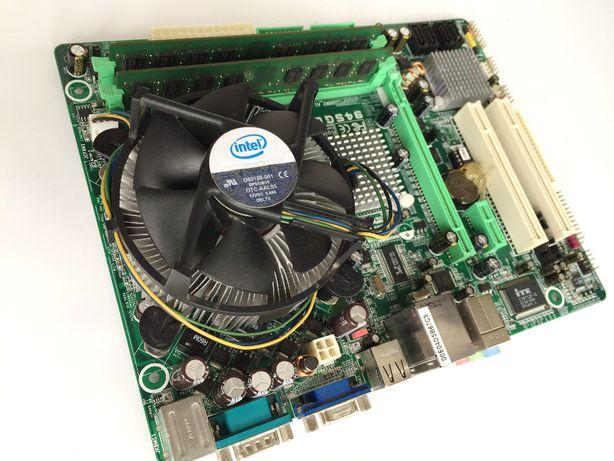 Комплект материнка Biostar + процессор Intel Dual Core и память DDR2