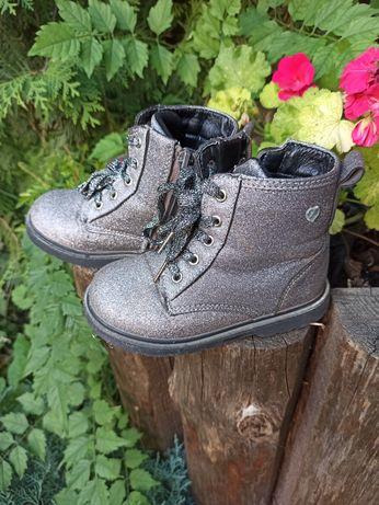 Демисезонные блестящие ботинки на девочку деми