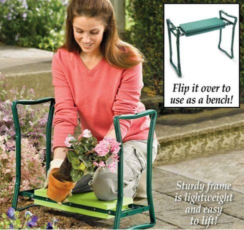 Скамейка подставка под колени для работы в огороде, на даче Перевертыш