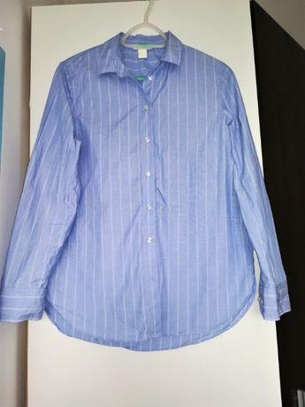 Niebieska koszula w paski H&M 36