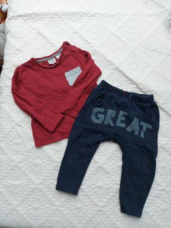 Koszulka i legginsy Zara rozm. 92