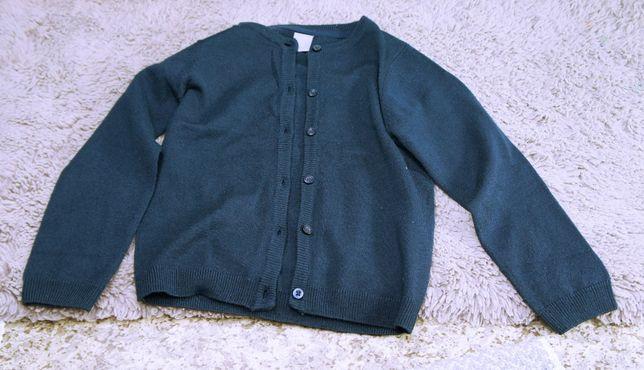 Sweter rozpinany dziecięcy, granatowy, marka Pepco, rozmiar 122