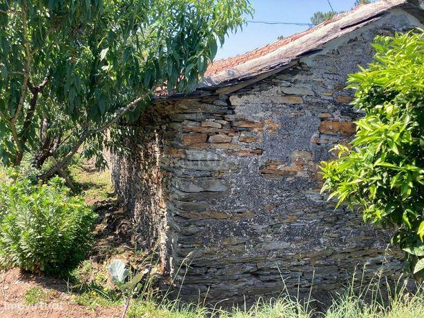 Terreno com casa em xisto em Santa Comba