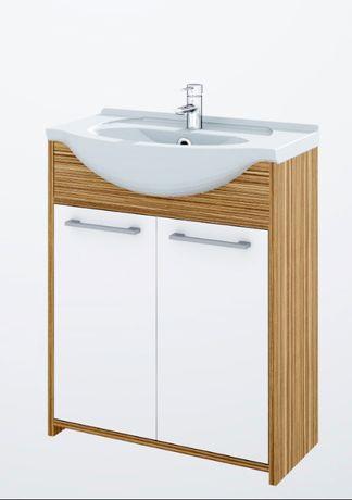 Szafka łazienkowa stojąca z umywalką 75 plus słupek 30 producent ELITA