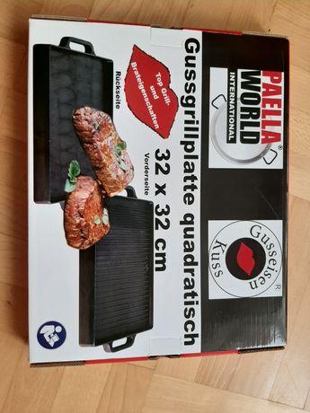 Grillowa płyta żeliwna 32x32 paella world gussgrillplatte grill