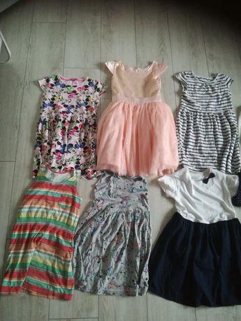 Paka ubrań dla dziewczynki 43 szt. rozm. od 122-128 do 134 i dodatki