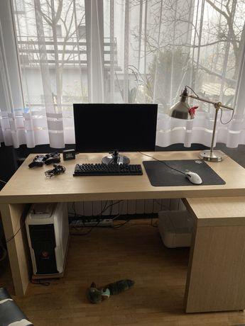 Biurko Ikea duze idealne do nauki