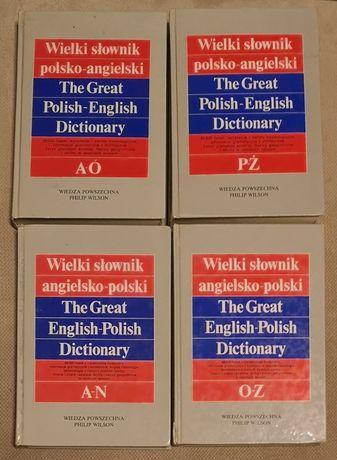 Wielki słownik polsko-angielski i angielsko-polski. Komplet 4 TOMY