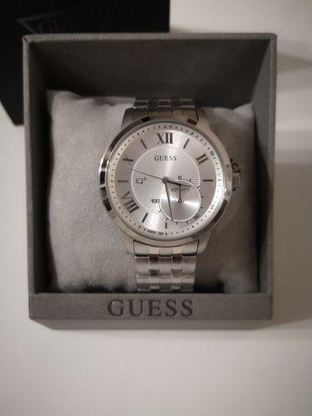 Zegarek Smartwatch Guess Connect Fitness IQ+ na bransolecie srebrny