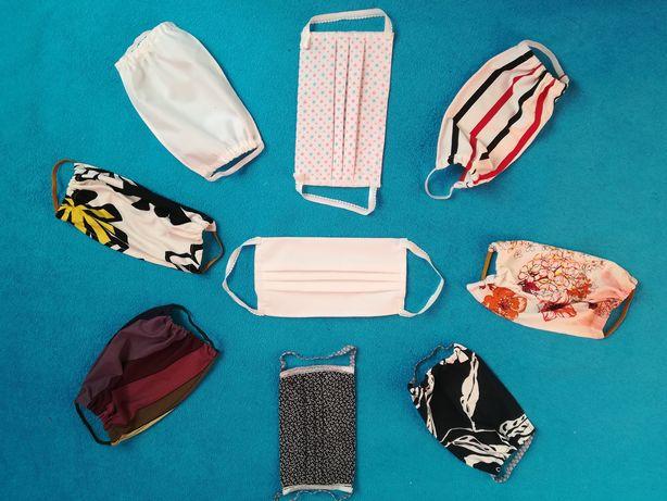 Maseczki z materiału dla dorosłych na gumkach różne wzory