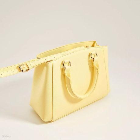Pastelowa żółta torebka damska mohito