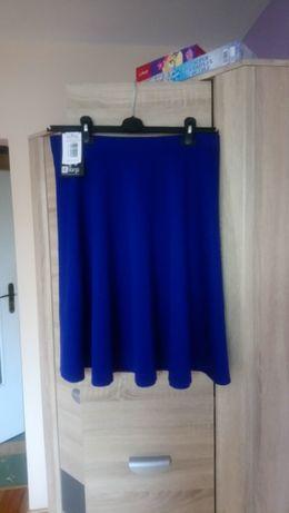 Kobaltowa rozkloszowana spódnica rozmiar 42