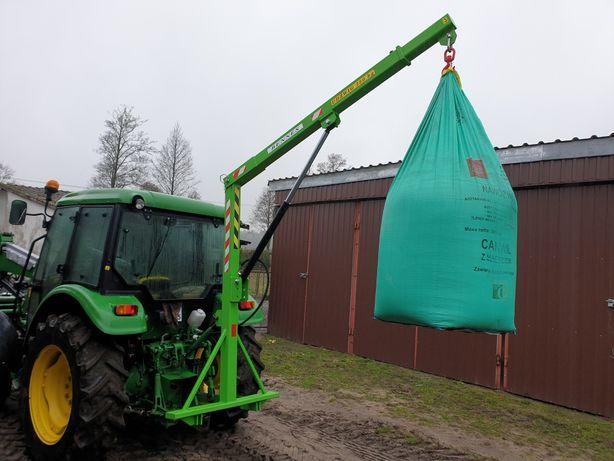 Podnośnik do big bag ładowacz maszt tur hydrauliczny byk bigbag żuraw