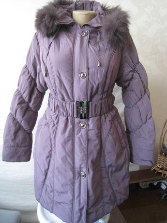 Куртка женская удлиненная с капюшоном ТМ YIMOER Пальто