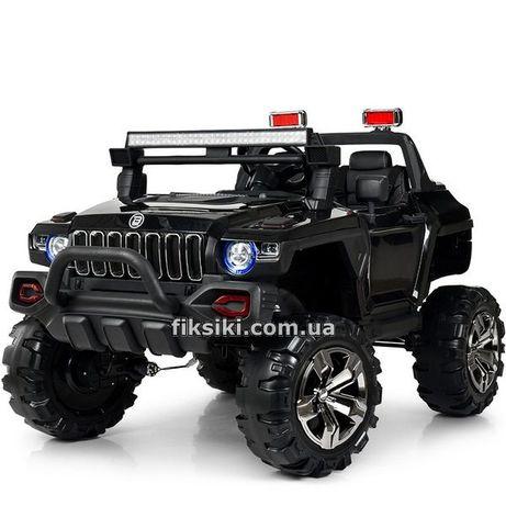 Детский электромобиль 4107 BLACK, Дитячий електромобiль