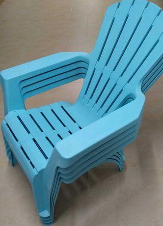 Cadeira Poltrona Jardim Piscina Plástico Resina Espreguiçadeira - NOVO