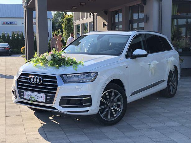 Auto Samochód do ślubu wynajem auta na wesele/ślub Białe AUDI Q7 BUS