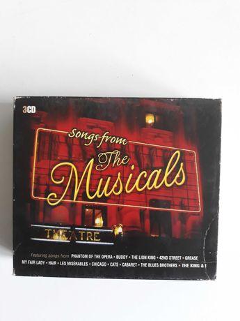 Zestaw płyt CD Songs from musicals 3 sztuki