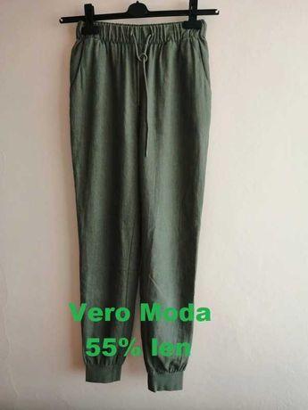 Spodnie Vero Moda 55% len, roz. S