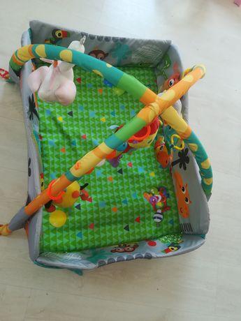 Mata edukacyjna+ zabawki pałąk do wózka