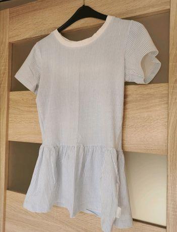 Błękitno-biała bluzka Diverse