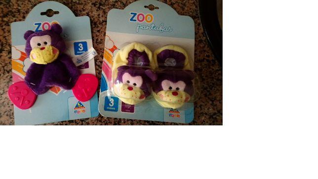 2 peças - Pantufas e dodo para bébé - NOVO majora
