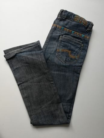 C&A jeansy dżinsy ciemne spodnie 152