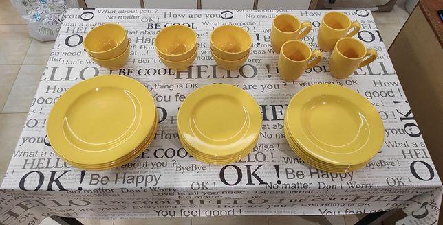 Serviço Pratos e Taças - Colecção KASA (Amarelo)